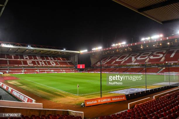 General view of the City Ground home to Nottingham Forest during the Sky Bet Championship match between Nottingham Forest and Middlesbrough at the...