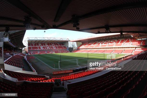A general view of The City Ground home to Nottingham Forest during the Sky Bet Championship match between Nottingham Forest and Leeds United at City...