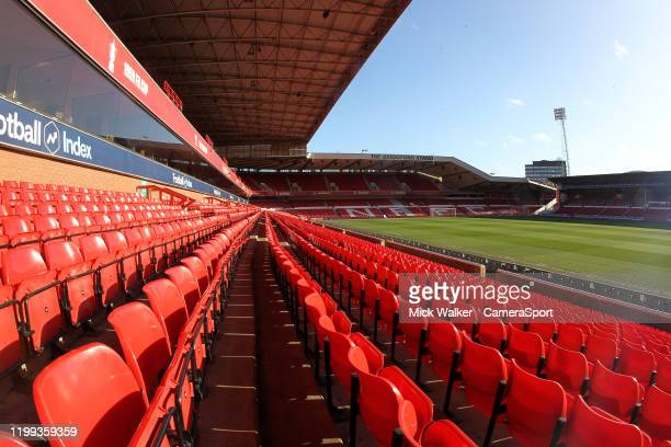 General view of The City Ground home to Nottingham Forest during the Sky Bet Championship match between Nottingham Forest and Leeds United at City...