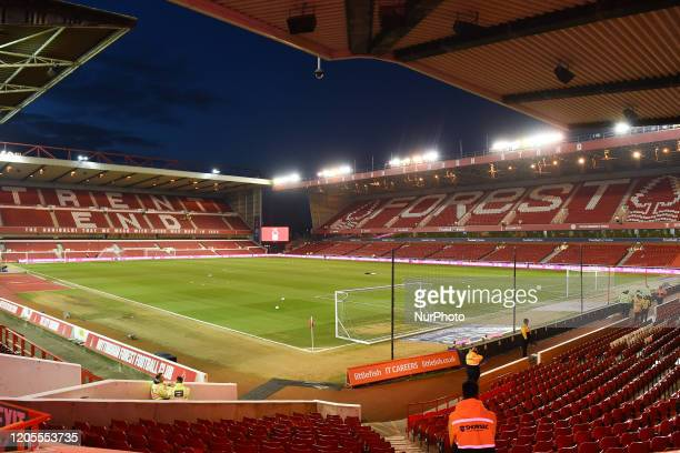 General view of the City Ground, home to Nottingham Forest during the Sky Bet Championship match between Nottingham Forest and Millwall at the City...