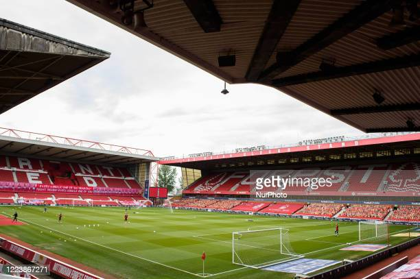 General view of the City Ground home to Nottingham Forest during the Sky Bet Championship match between Nottingham Forest and Bristol City at the...