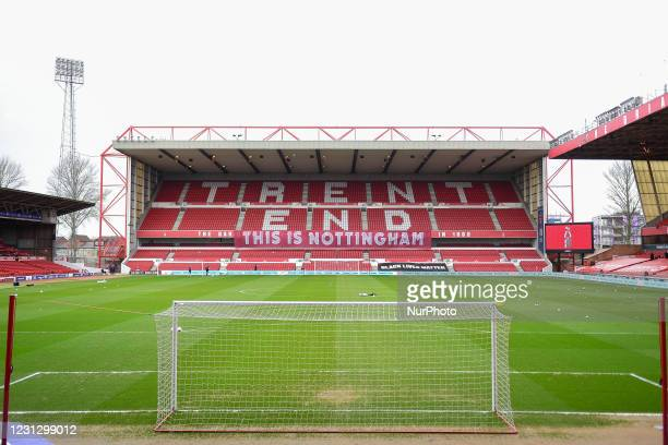 General view of the City Ground, home to Nottingham Forest during the Sky Bet Championship match between Nottingham Forest and Blackburn Rovers at...