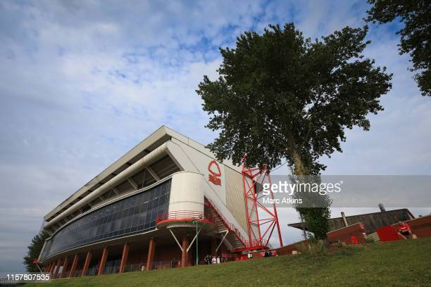 General view of The City Ground prior to the Pre-Season Friendly between Nottingham Forest and Real Sociedad at City Ground on July 26, 2019 in...