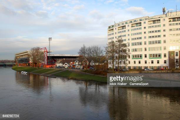 A general view of The City Ground Stadium home of Nottingham Forest Football Club during the Sky Bet Championship match between Nottingham Forest and...