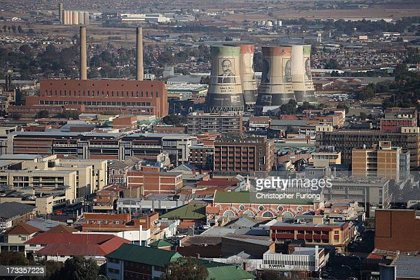 A general view of the city of Bloemfontein the birthplace of the ANC on July 12 2013 in Bloemfontein South Africa Antiapartheid icon Mandela has been...