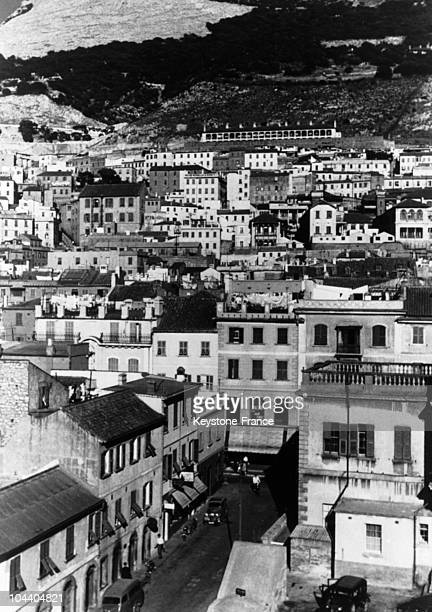 A general view of the city of Gibraltar It was a British territory at Spain's southern end This strategic place was claimed by Spain since 1967...