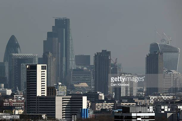 A general view of the City of London from Hampstead Heath on April 1 2014 in London England Several high profile campaigners including Sir Anthony...
