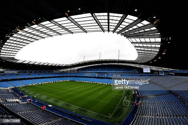 General View of The City of Manchester Stadium, home of Manchester City FC on February 27, 2011 in Manchester, England.