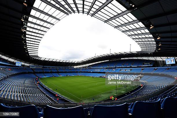 General View of The City of Manchester Stadium home of Manchester City FC on February 27 2011 in Manchester England