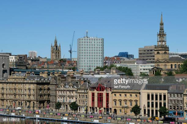 General view of the City of Newcastle on the launch day of the Great Exhibition of the North on June 22, 2018 in Newcastle Upon Tyne, England. The...