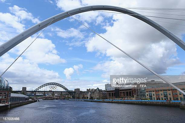A general view of the city of Newcastle upon Tyne as part of the London 2012 Olympic Games on July 30 2012 in Newcastle upon Tyne England