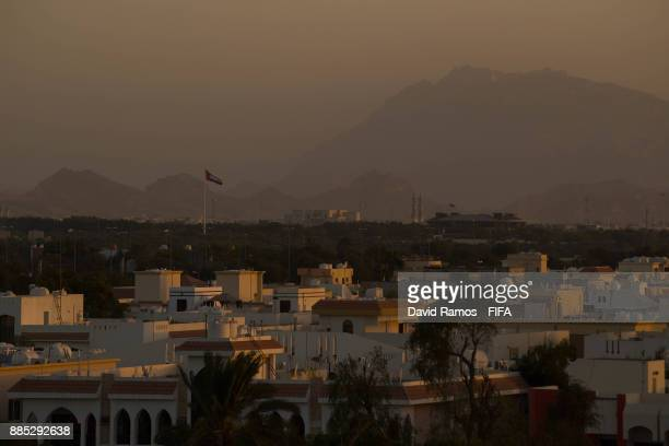 A general view of the city on December 4 2017 in Al Ain United Arab Emirates