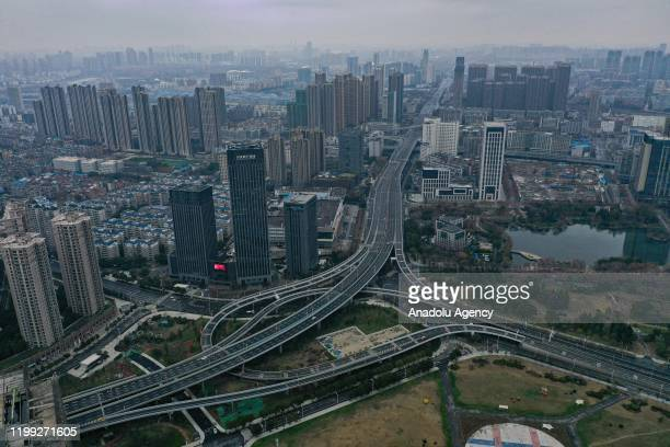 General view of the city on February 7 2020 in Wuhan China The 2019 new coronavirus known as 2019nCoV was discovered in Wuhan virus pneumonia cases...