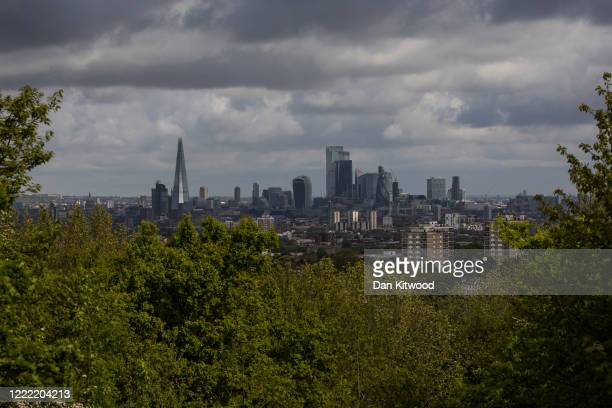 A general view of the city skyline on May 01 2020 in London England British Prime Minister Boris Johnson who returned to Downing Street this week...