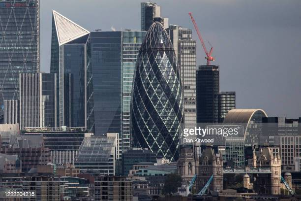 General view of the city skyline on May 01, 2020 in London, England. British Prime Minister Boris Johnson, who returned to Downing Street this week...