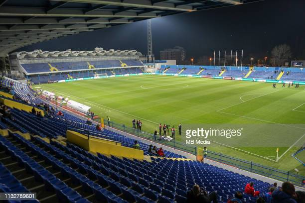 General view of the City stadium before the 2020 UEFA European Championships group A qualifying match between Montenegro and England at Podgorica...