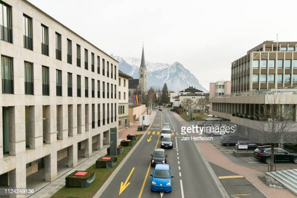 General view of the city Vaduz on January 23, 2019 in Vaduz, Liechtenstein. Liechtenstein celabrates the 300th anniversary of the founding of the...