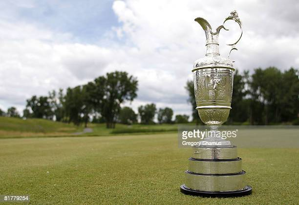 General view of the Claret Jug at the International Final Qualifying America for the 2008 British Open on June 30 2008 at the TPC of Michigan in...