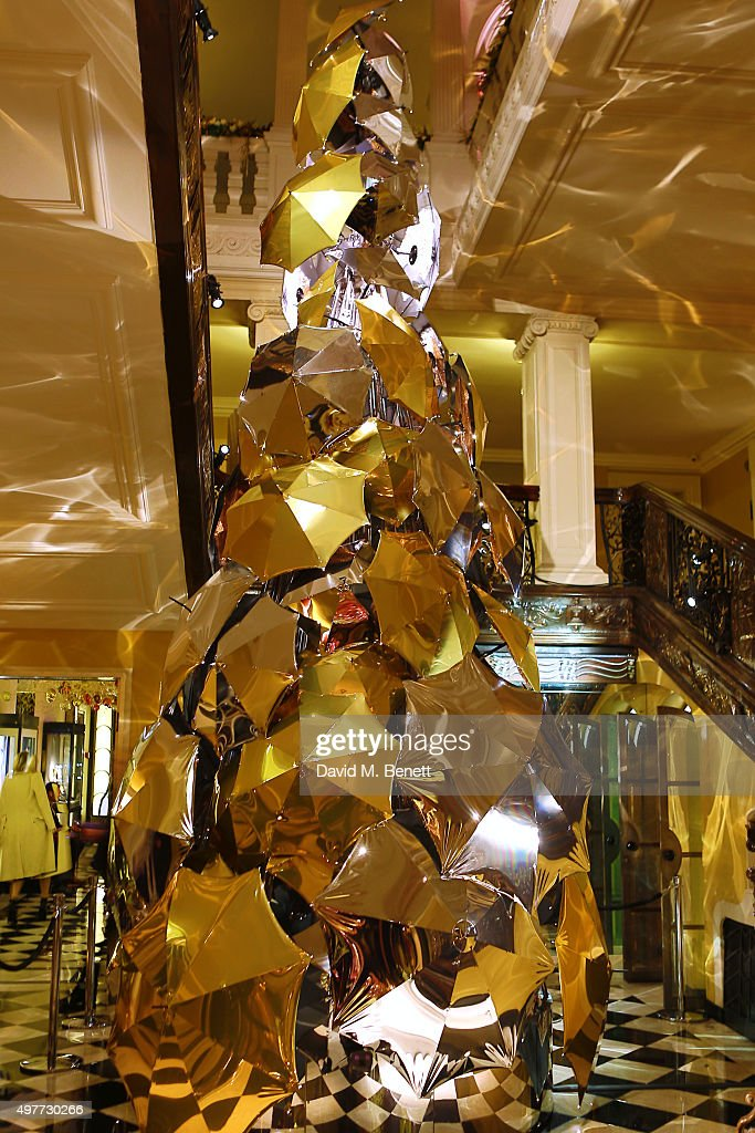 A general view of the Claridge's Christmas Tree, designed ...
