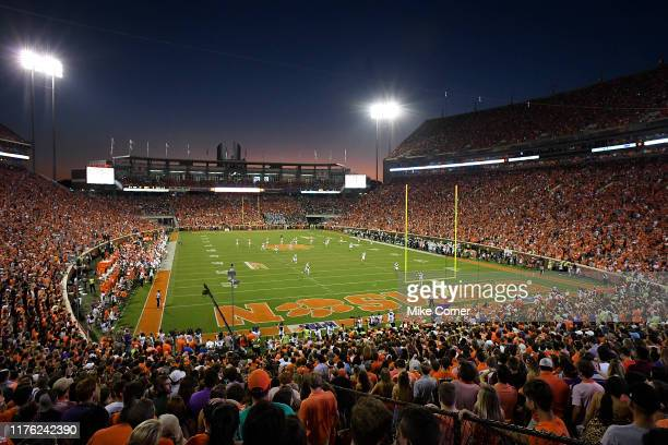 General view of the Clemson Tigers' football game against the Charlotte 49ers at Memorial Stadium on September 21, 2019 in Clemson, South Carolina.