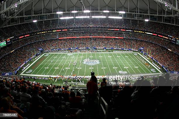 A general view of the Clemson University Tigers playing the Auburn University Tigers during the ChickFilA Bowl on December 31 2007 at the Georgia...