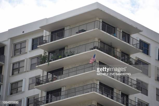 General view of the Clipper Apartment Building at Biscayne Cove Florida on October 26 2018 The building reportedly has been identified as the home of...