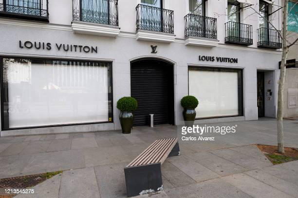 General view of the closed Louis Vuitton store, at Serrano street on March 19, 2020 in Madrid, Spain. As part of the measures against the virus...