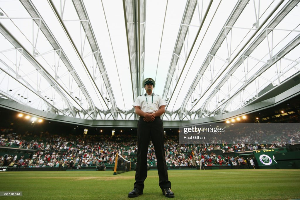A general view of the closed roof over Centre Court on Day Six of the Wimbledon Lawn Tennis Championships at the All England Lawn Tennis and Croquet Club on June 27, 2009 in London, England.