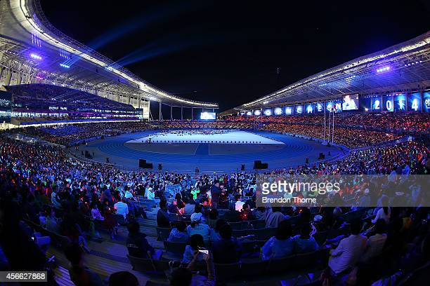 A general view of the Closing Ceremony during day fifteen of the 2014 Asian Games at Incheon Asiad Main Stadium on October 4 2014 in Incheon South...