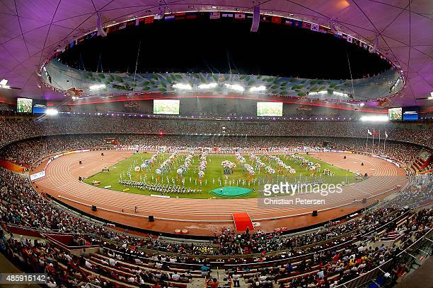 General view of the closing ceremony during day nine of the 15th IAAF World Athletics Championships Beijing 2015 at Beijing National Stadium on...