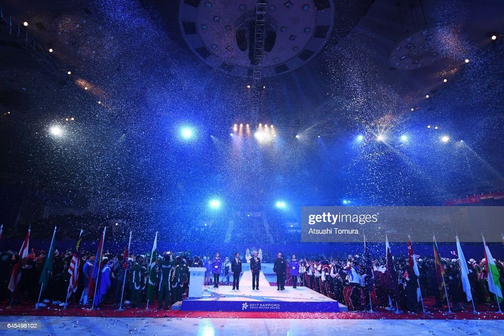 General view of the closing ceremony on the day nine of the 2017 Sapporo Asian Winter Games at Makomanai indoor skating rink on February 26, 2017 in Sapporo, Japan.