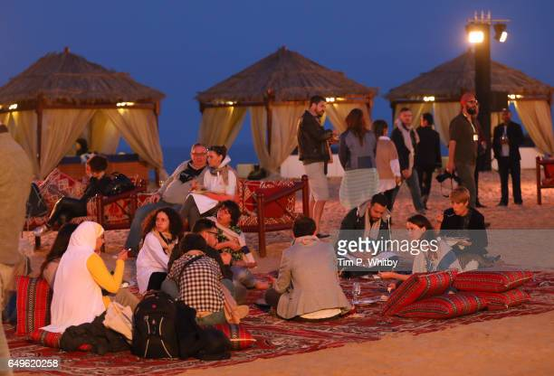 A general view of the closing night event at a desert camp on day six of Qumra the third edition of the industry event by the Doha Film Institute...