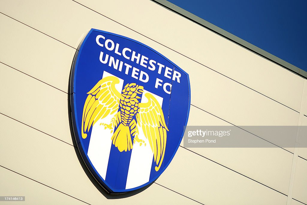 A general view of the club badge during a pre season friendly match between Colchester United and Tottenham Hotspur at the Colchester Community Stadium on July 19, 2013 in Colchester, England.