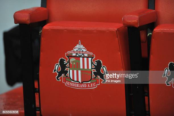 General view of the club crest on seating at the Stadium of light home to Sunderland