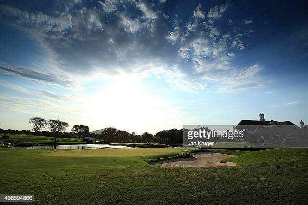 A general view of the clubhouse ahead of the Alfred Dunhill Championship at Leopard Creek Country Golf Club on November 24 2015 in Malelane South...