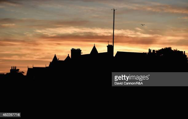 General view of the clubhouse at dawn before the first round of The 143rd Open Championship at Royal Liverpool on July 17 2014 in Hoylake England