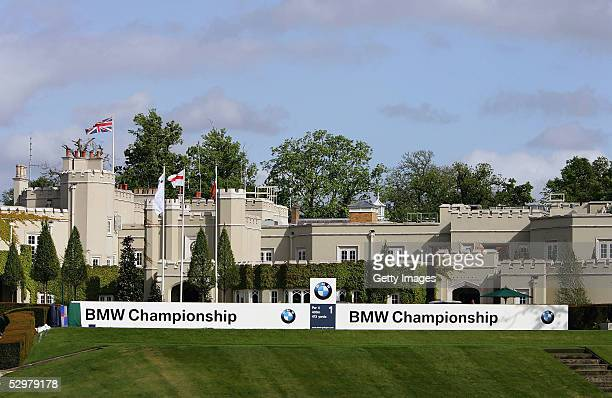 A general view of the clubhouse at the BMW Championship 2005 ProAm Event on the West Course at Wentworth Golf Club on May 25 2005 in Virginia Water...
