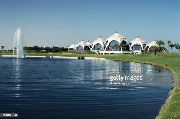 General view of the clubhouse at the Emirates Golf Club taken during a photocall held in Dubai, United Arab Emirates.