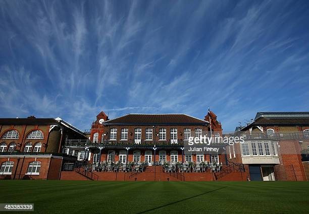 A general view of the Clubhouse at The Queens Club on April 8 2014 in London England