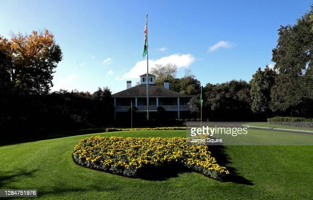 General view of the clubhouse during a practice round prior to the Masters at Augusta National Golf Club on November 09, 2020 in Augusta, Georgia.