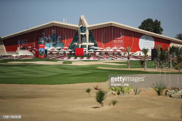 General view of the clubhouse during practice ahead of the Abu Dhabi HSBC Championship at Abu Dhabi Golf Club on January 19, 2021 in Abu Dhabi,...