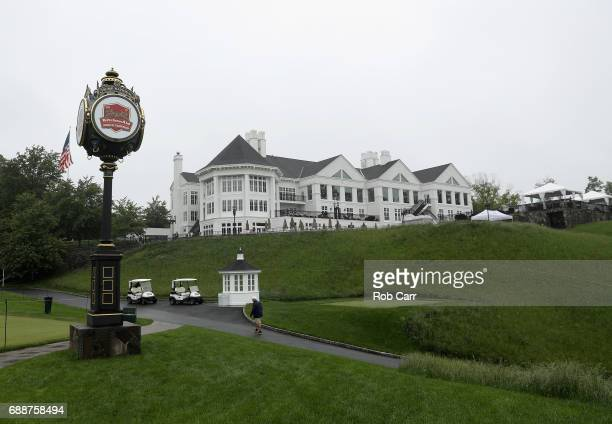 A general view of the clubhouse during Round 1 of the Senior PGA Championship at Trump National Golf Club on May 25 2017 in Sterling Virginia