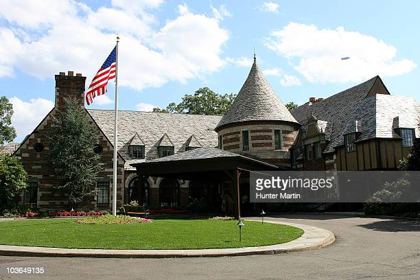 A general view of the clubhouse during the first round of The Barclays at the Ridgewood Country Club on August 26 2010 in Paramus New Jersey