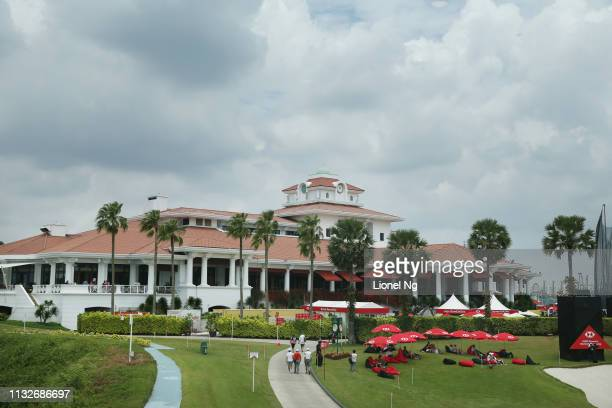 A general view of the clubhouse during the first round of the HSBC Women's World Championship at Sentosa Golf Club on February 28 2019 in Singapore