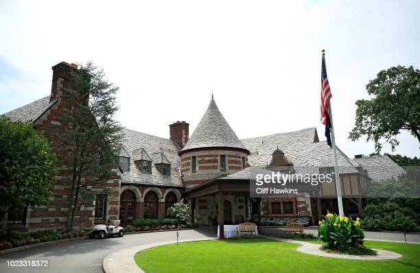 General view of the clubhouse during the third round of The Northern Trust on August 25, 2018 at the Ridgewood Championship Course in Ridgewood, New...