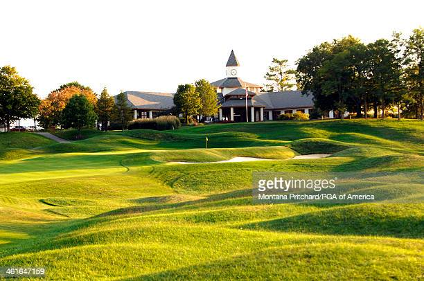 General view of the clubhouse from hole 9 at the Valhalla Golf Club after the course redesign in Louisville Kentucky on October 1 2007