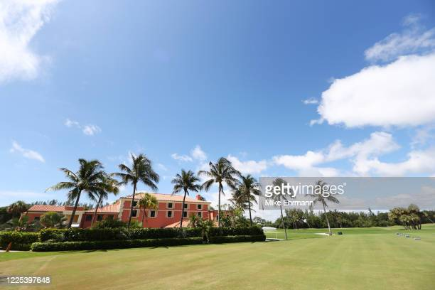 General view of the clubhouse is seen ahead of the TaylorMade Driving Relief Supported By UnitedHealth Group on May 17, 2020 at Seminole Golf Club in...