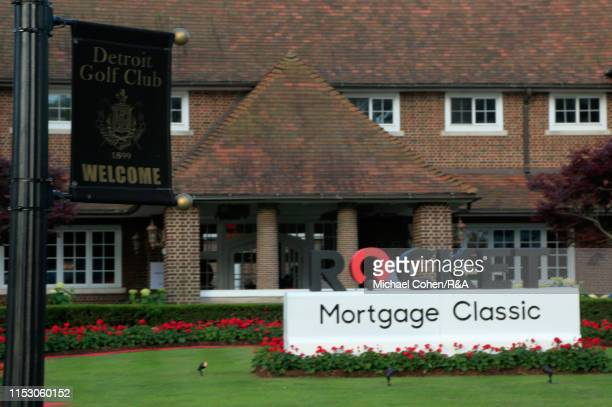 General view of the clubhouse is seen during The Open Qualifying Series, part of the Rocket Mortgage Classic at Detroit Golf Club on June 30, 2019 in...