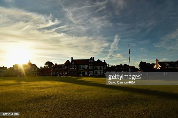 A general view of the clubhouse prior to the first round of The 143rd Open Championship at Royal Liverpool on July 17 2014 in Hoylake England