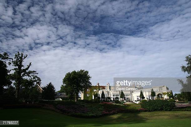 General view of the clubhouse taken from the East Course at the Wentworth Golf Club August 25th in Virginia Water England